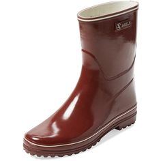 Aigle Aigle Women's Venise Bottillon Short Rain Boot - Red - Size 36 ($75) ❤ liked on Polyvore featuring shoes, boots, red, wellington boots, rubber boots, short rain boots, red platform shoes and wellies boots