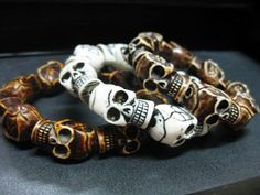 Ball Chain Round Bead Link Silver Tone Bracelet Gothic Punk Heavy Metal Rock Fun