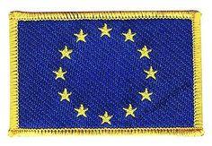 EUROPäISCHE UNION EU AUFNÄHER Flaggen Fahnen Patch Aufbügler 8x6cm in Musik, Fanartikel & Merchandise, Aufnäher | eBay
