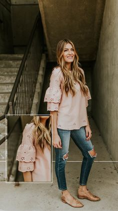 Blush eyelet spring blouse - ROOLEE Dress Outfits 7c15858b0