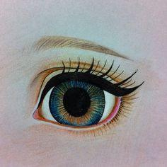 Study (repainting dolls) #eye