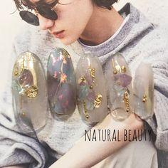 夏/海/リゾート/オフィス/ハンド - naturalbeautyのネイルデザイン[No.4446147]|ネイルブック Korean Nail Art, Korean Nails, Summer Acrylic Nails, Pastel Nails, Cute Nails, Pretty Nails, Japan Nail Art, Hello Kitty Nails, Stiletto Nail Art