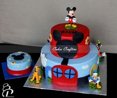 Mickey Mouse Club House Cake by Cakes Crafters, via Flickr