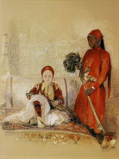 John Frederick Lewis - Iskander Bey and His Servant