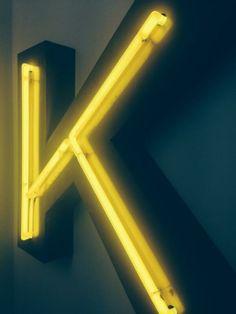 Neon letter K via @Dafydd Goodwin + Goodwin