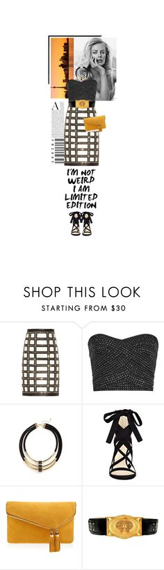 """limited edition"" by beingaries ❤ liked on Polyvore featuring Balmain, Topshop, Nine West and Henri Bendel"