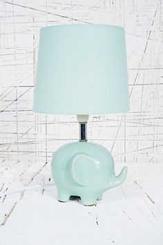 Elephant Lamp UK Plug in Mint