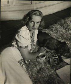 Carole Lombard at home, circa 1938