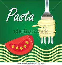 Vector illustration of italian food - stock vector