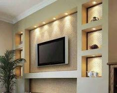 62 Ideas Living Room Tv Wall Corner Cabinets For 2019 Kitchen Wall Units, Modern Tv Wall Units, Tv Wand Design, Living Room Tv Unit Designs, Tv Wall Unit Designs, Tv Wall Decor, Diy Wall, Fireplace Wall, Fireplace Ideas