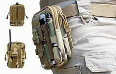 LefRight(TM) Camouflage Strength Oversize 1000D Nylon Tough Duty Tactical Molle Compatible Sport Outdoor Gear Utility Carrying Gadget Pouch /Tools Belt Waist Bag / Accessory Pouch Bag for Samsung Galaxy Note i9220 Note 2 N7100 Note 3 N9000 Note 4 N9100 Note Edge N9150 iPhone 6 iPhone 6 Plus Samsung S6 Edge