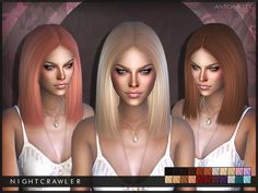 Nightcrawler - Antoinette. NEW MESH Found in TSR Category 'Sims 4 Female Hairstyles'
