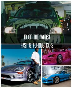 """""""Kill it with fire!"""" We count down the worst ten Fast and Furious movie cars. Check it out!"""