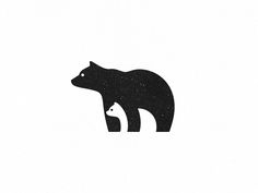 An illustration/logo with clever use of negative space. An illustration/logo with clever use of negative space. Tattoo For Son, Tattoos For Kids, Child Tattoos, Mother Daughter Tattoos, Tattoos For Daughters, Tattoo Mutter, Negative Space Logos, Bear Tattoos, Baby Bear Tattoo