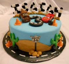 Disney Cars Cake Decorating Kit : Lightning McQueen and Dusty Crophopper cake by Melanie ...