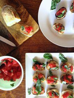 Garlic Rubbed Toast with Tomatoes and Basil (Bruschetta al Pomodoro) Platter Talk
