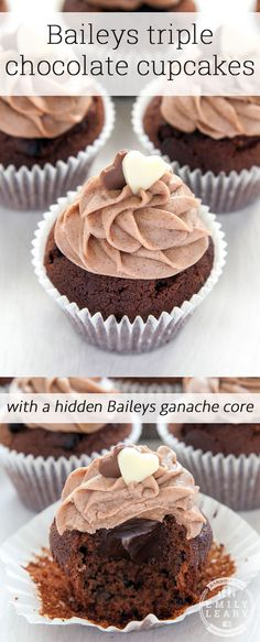 Ultimate Baileys chocolate cupcakes with a surprise inside