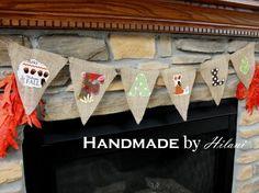Handmade by Hilani: Fall Decorating - Burlap Bunting Garland
