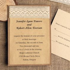 lace wedding invitations  For more insipiration visit us at https://facebook.com/theweddingcompanyni or http://www.theweddingcompany.ie