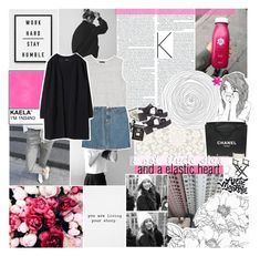 """""""ELASTIC HEART"""" by absurd-ambitions ❤ liked on Polyvore featuring Assouline Publishing, Pippin, A.P.C., MANGO, Windsor Smith, Chanel, Pier 1 Imports, Calder, Urban Outfitters and kaelasradmagazinesets"""