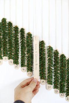 DIY Craft Stick Advent Calendar @themerrythought