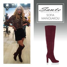Sofia Manolakou in SANTE Over-the-knee Boots ‪#‎BuyWearEnjoy‬ ‪#‎CelebritiesinSante‬ Available in stores & online: www.santeshoes.com