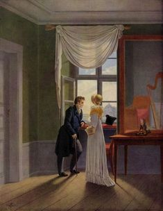 The Athenaeum - Couple at the Window (Georg Friedrich Kersting - )