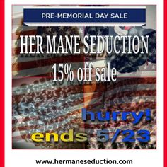 GET  YOUR SUMMER-READY HAIR NOW!!!!!  @HER_MANE_SEDUCTION is having an unheard of memorial day sale! This sale is only available for 1 week or until supplies last.   Expedited shipping is not available   SHOP: www.hermaneseduction.com and enter discount code= HMS15 at checkout   *************WARNING************ *Last year our hair sold in 2 days*  Please email us for questions or concerns.  Thank you,  The Her Mane Seduction team     ALL FAQ's can be found on our…
