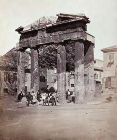 The gate of Athina Archegetis in the Roman Agora James Robertson & Felice Beato 1858 Gate, Roman, Portal