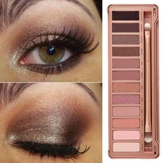 For this warm toned smokey eye, we love Urban Decay's Naked 3 palette. It's got loads more pink tones than the first two palettes. Use a brown liner rather than black and finish with some fluttery false lashes. -Sugarscape.com