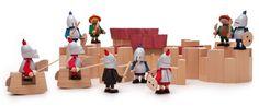 Holzspielzeug Figuren: Bewegliche Spielfiguren aus heimischem Holz zum selbst Zusammenbauen. http://www.aruzzitaugo.com/holzspielzeug-figuren.html