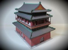 The Weekend Pic - Beijing Drum Tower Paper Model - by Seascape / Stahlhart   ==       This really beautiful paper model of the Beijing Drum Tower in 1/300 scale was created by German designer Christoph Stahl, aka Stahlhart and here in this post you can see the model assembled by German modeler Seascape. Build under Emperor Yongle in 1420, the Beijing Drum Tower was the Center of time-keeping in the Capital city, announcing full hours by huge drums until 1924.