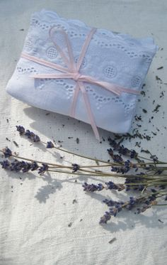 <3  Sachets de lavande~I Love To Make Sachets~I Put Them everywhere and give them to anyone who comes in my home and wants one~I buy My Lavender by the box from a Florest~Kimberly Stanley