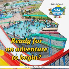 The real fun starts where fear ends! Get ready to board an adventurous ride only at MM Funcity.  #MMFunCity #Chhattisgarh #WaterPark #Fun #Thrill #WaterSlides #Adventure