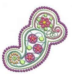 FREE!- 1 Paisley Machine Embroidery Design, from Designs by JuJu