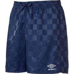Umbro Youth Rio Check Shorts, Boy's, Size: Medium, Peacoat