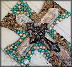 Wall cross by StoneFrenzy on Etsy