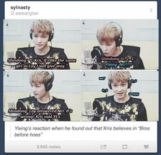 Bros before hoes apparently... Lay doesn't believe that coming from Kris