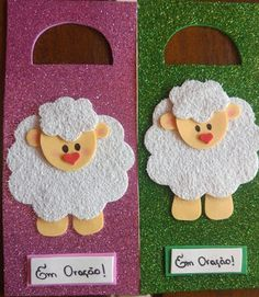 Cristo é a rosa mais bela: SUGESTÃO DE LEMBRANCINHAS Kids Crafts, Felt Crafts, Easter Crafts, Alphabet Activities, Preschool Activities, Door Crafts, Sunday School Crafts, Bible For Kids, Animal Crafts
