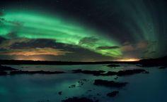 Auroras Shimmering Over Iceland