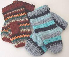 Crochet Mitten Pattern- free crochet patterns
