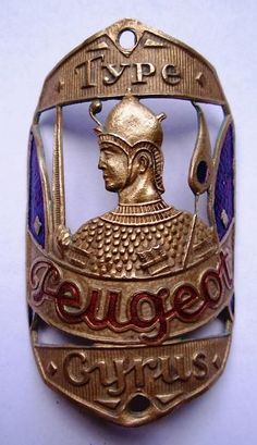 Peugeot Cyrus head badge - Woh! Peugeot and knights all in one.