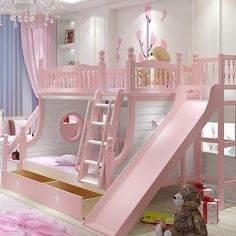 Are you looking for latest kids bedroom? Here are more than 50 exellent kids bedroom ideas . boys and girls, twins, with toys storage, cabinets, bunk bed Cute Bedroom Ideas, Girl Bedroom Designs, Awesome Bedrooms, Cool Rooms, Girls Bedroom, Bed Ideas, Kids Bedroom Ideas For Girls Tween, Baby Girl Bedroom Ideas, Toddler Bedroom Ideas
