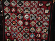 Photo Memory Quilt Ideas | Memory Quilt by Patrice G | Quilting Ideas