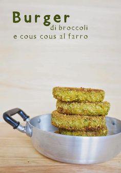 Burger vegani di cous cous di farro e broccoli