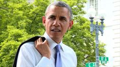 President Barack Obama Takes A Surprise Springtime Walk Around A Washington D.C. Neighborhood