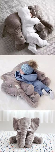 $19.99 for this Giant Elephant Baby Pillow. Makes the Perfect Baby Shower Gift!