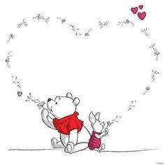 Pooh and piglet Pooh and piglet – Disney Crafts Ideas Winnie The Pooh Tattoos, Winnie The Pooh Quotes, Winnie The Pooh Friends, Winnie The Pooh Drawing, Winnie The Pooh Pictures, Disney Winnie The Pooh, Piglet Winnie The Pooh, Cute Disney, Disney Art