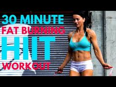30-Minute HIIT Cardio Jump Rope Workout at Home - YouTube Jump Rope Workout, Hiit Workout At Home, 30 Minute Workout, At Home Workouts, Tabata, Cardio, Fat Burning, Burns, Exercise
