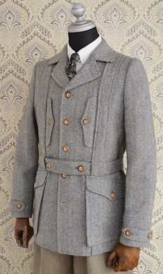 Norfolk Jacket, Doctor Costume, Tweed Run, Designer Suits For Men, Safari Jacket, Mens Fashion Suits, Military Fashion, Casual Shirts, Vintage Outfits